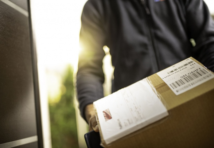 delivery of a package