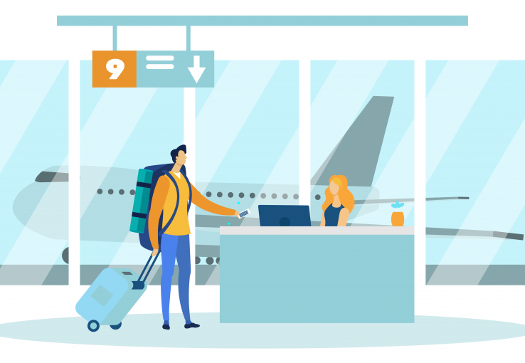 Taking a flight is a customer experience journey that includes multiple touch points.